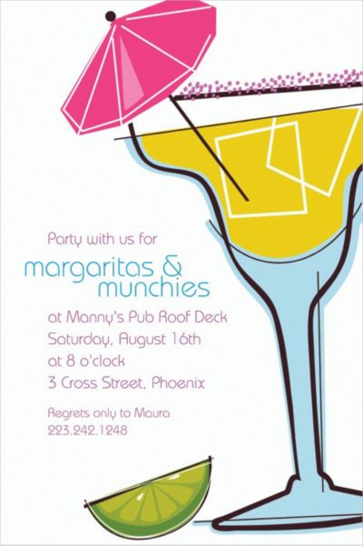 Summertime Margarita Custom Invitation