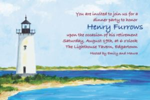 Custom Classic Lighthouse Invitations