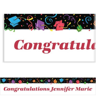 Colorful Grad Party Custom Banner