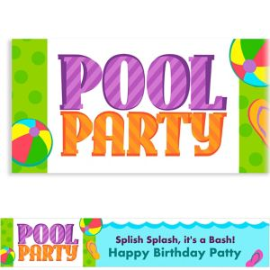 Custom Pool Party! Banner 6ft