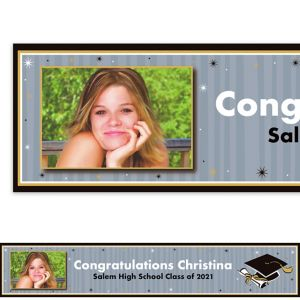Custom Grad Honors Photo Banner 6ft