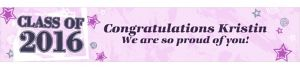 Custom Pink Class Year with Stars Graduation Banner 6ft