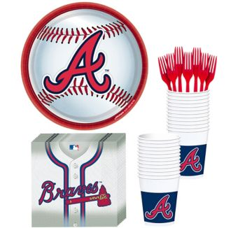 Atlanta Braves Basic Party Kit for 16 Guests