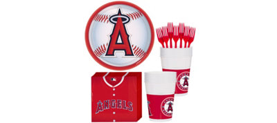 Los Angeles Angels Basic Party Kit for 16 Guests