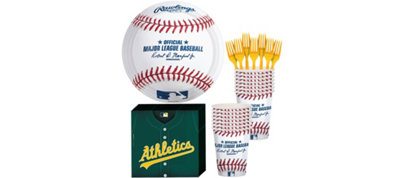 Oakland Athletics Basic Party Kit for 16 Guests