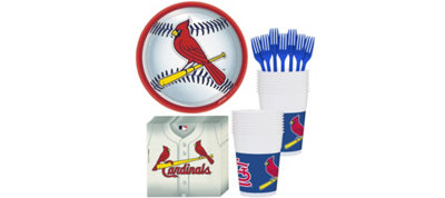 St. Louis Cardinals Basic Party Kit for 16 Guests