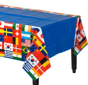 International Flags Plastic Table Cover