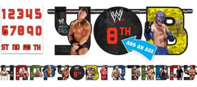 WWE Birthday Banner 10 3/4ft