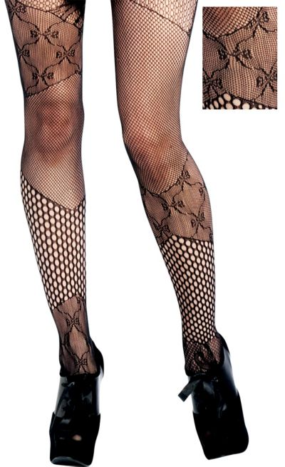 Adult Patchwork Fishnet Tights
