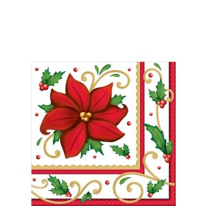 Winter Botanical Beverage Napkins 125ct