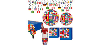 International Flag Party Supplies Basic Party Kit