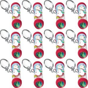 Winter Kaleidoscope Keychains 12ct