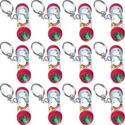 Winter Kaleidoscope Keychains 12ct