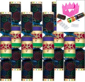 Deluxe Colorful Crackers 8ct
