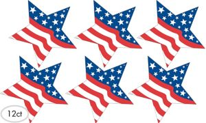 Patriotic Star Cutouts 12ct