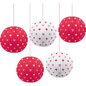 Valentine's Mini Lanterns 5ct