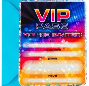 Premium Prismatic VIP Pass Invitations 8ct