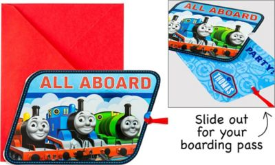 All Aboard Thomas the Tank Engine Invitations 8ct