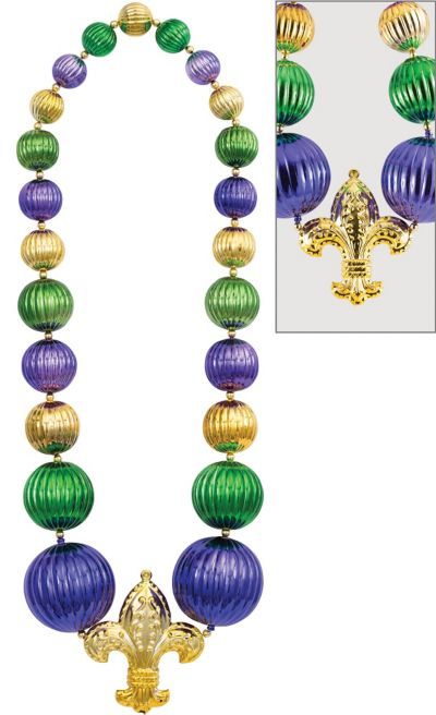 Giant Fleur De Lys Bead Necklace