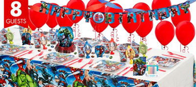 Avengers Party Supplies Super Party Kit for 8 Guests