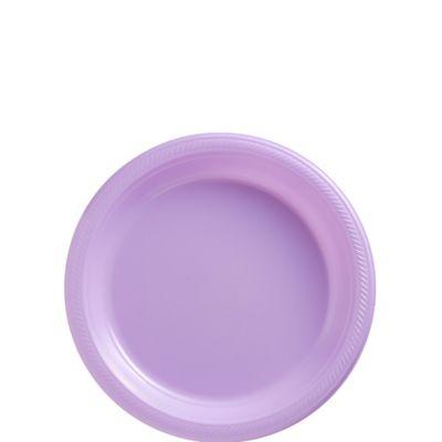 Lavender Plastic Dessert Plates 20ct