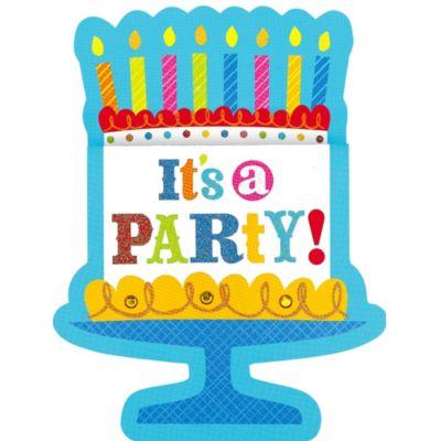 Cake Time Birthday Invitations 8ct