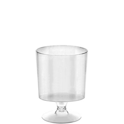 Mini CLEAR Plastic Footed Bowls 40ct