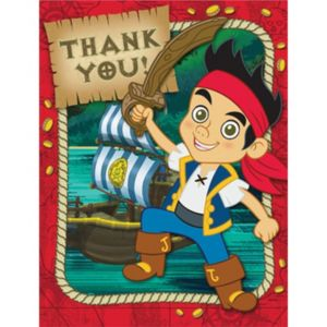 Red Jake and the Never Land Pirates Thank You Notes
