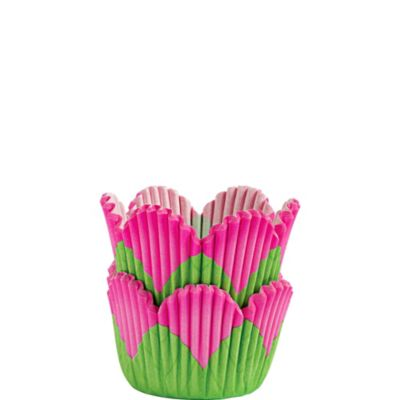 Mini Pink Petal Baking Cups 48ct