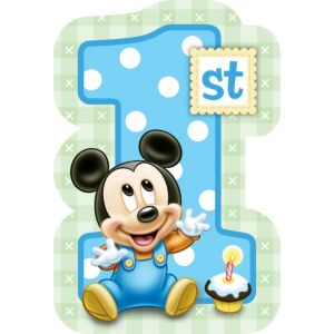1st Birthday Mickey Mouse Invitations 8ct