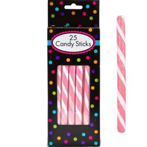 Light Pink Candy Sticks 25pc
