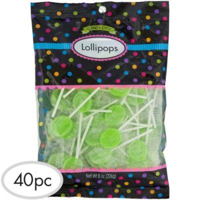 Kiwi Green Lollipops 48pc