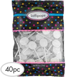 White Lollipops 40pc