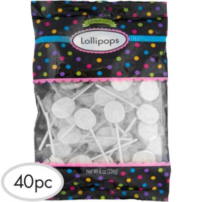 White Lollipops 48pc