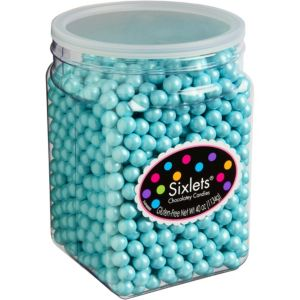 Robin's Egg Blue Chocolate Sixlets 1330pc