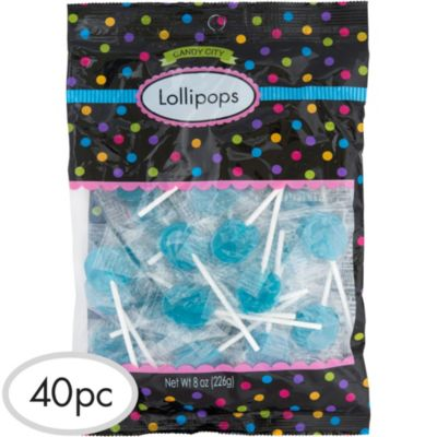 Caribbean Blue Lollipops 48pc