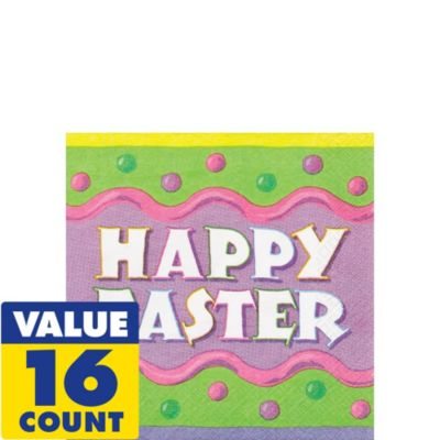 Happy Easter Beverage Napkins 16ct