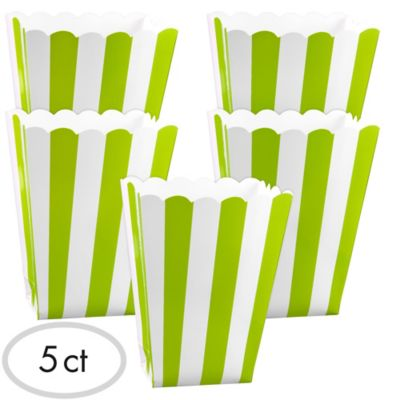 Kiwi Green Popcorn Favor Boxes 5ct