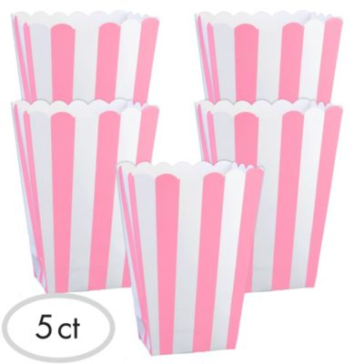 Light Pink Popcorn Favor Boxes 5ct