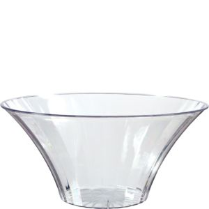 Large CLEAR Plastic Flared Bowl