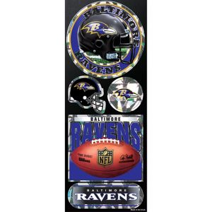 Prismatic Baltimore Ravens Stickers 5ct