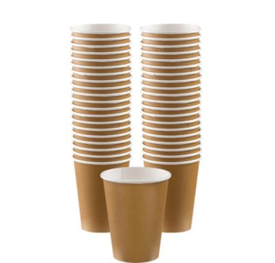 BOGO Gold Paper Coffee Cups 12oz 40ct