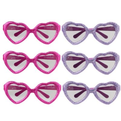 Minnie Mouse Glitter Glasses 6ct