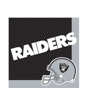Oakland Raiders Lunch Napkins 36ct