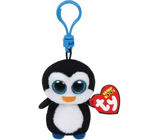 Clip-On Waddles Beanie Boo Penguin Plush