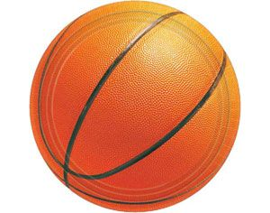 Basketball Dessert Plates 8ct
