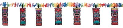 Tiki Flower Garland