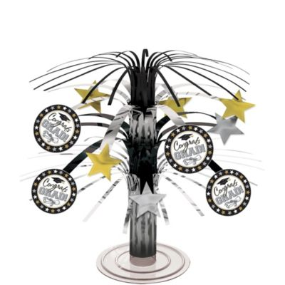 Black & White Cascade Graduation Centerpiece