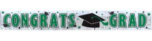Green Foil Fringe Graduation Banner