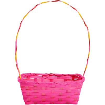 Pink Bamboo Easter Basket